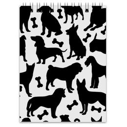 "Блокнот ""Собаки"" - животные, dog, собака, пёс, косточка"