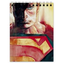 "Блокнот ""Супермен (Superman)"" - комиксы, супермэн, dc, dc comics, batman vs superman"