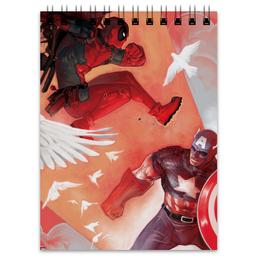 "Блокнот ""Дэдпул (Deadpool)"" - комиксы, кэп, марвел, капитан америка, дэдпул"