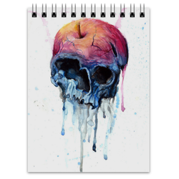 "Блокнот ""Rotten apple"" - skull, череп, акварель, яблоко"