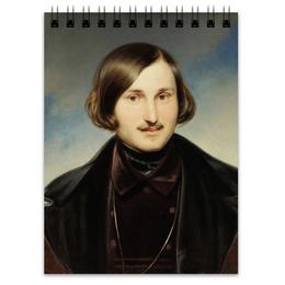 """Блокнот """"Николай Гоголь (портрет работы Фёдора Моллера)"""" - картина, гоголь, моллер"""