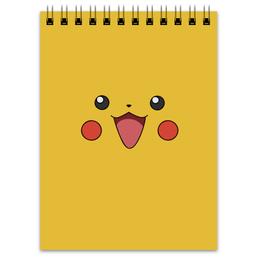 """Блокнот """"Пикачу"""" - pokemon, покемон, пикачу, анимэ, pikachu"""