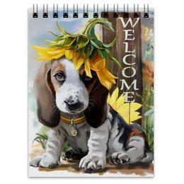 """Блокнот """"Собака"""" - цветок, собака, животное"""
