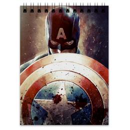 "Блокнот ""Капитан Америка"" - комиксы, cap, кэп, марвел, captain america"