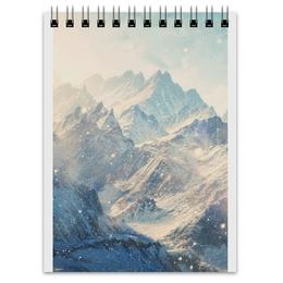 """Блокнот """"Mountains"""" - красиво, стиль, в подарок, горы"""