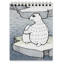"""Блокнот """"Умка на льдине"""" - медведь, мама, блокнот, умка"""