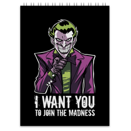 "Блокнот ""Джокер"" - joker, комиксы, джокер, бэтмен, отряд самоубийц"