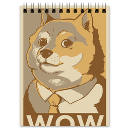 "Блокнот ""DOGE WOW"" - мем, dog, meme, doge"