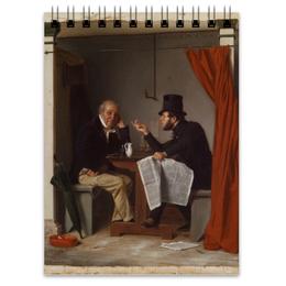 "Блокнот ""Политики в ресторане «Устричный Дом»"" - картина, ричард кейтон вудвиль"