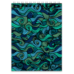 "Блокнот ""Волнистый"" - арт, узор, волна, орнамент, абстракция"