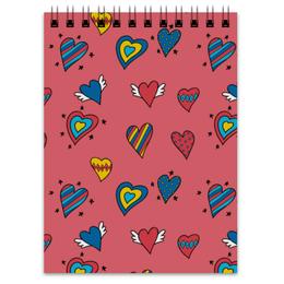 """Блокнот """"Heart doodles"""" - love, 14 февраля, сердечки"""