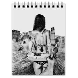 """Блокнот """"Follow me"""" - follow me, следуй за мной, рисунки карандашом девушек, рисованные девушки"""