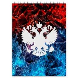 "Блокнот ""Флаг России"" - россия, герб, russia, орел, флаг"