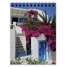 """Блокнот """"""""Греция. Остров Санторини"""""""" - цветы, путешествия, travel, греция, санторини"""