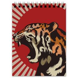 "Блокнот ""Тигр арт"" - арт, tiger, тигр, звери, дикая природа"