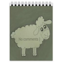 """Блокнот """"Блокнот Овечка"""" - прикольная, веселая, овечка"""