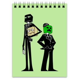 """Блокнот """"Крипер и Эндермен. Майнкрафт"""" - игры, minecraft, майнкрафт, геймерские, крипер и эндермен"""