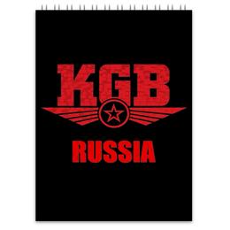 """Блокнот """"KGB Russia"""" - россия, russia, путин, кгб, kgb"""