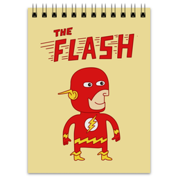 """Блокнот """"Флэш """" - flash, прикольные, комиксы, супергерои, флэш"""