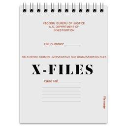 "Блокнот ""X-files"" - сериал, x-files, x files, секретные материалы, фокс малдер"