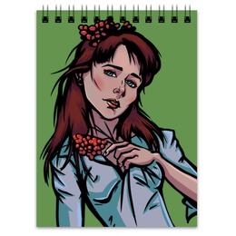 """Блокнот """"Девушка с рябиной"""" - арт, девушка, осень, нежность, рябина"""