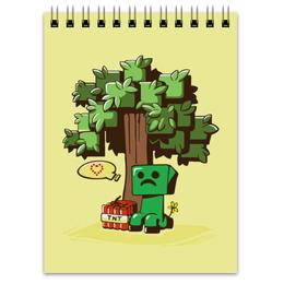 "Блокнот ""Крипер. Майнкрафт"" - minecraft, майнкрафт, creeper, крипер, геймерские"