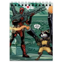 "Блокнот ""Дэдпул (Deadpool)"" - комиксы, марвел, ракета, дэдпул, rocket racoon"
