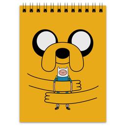 """Блокнот """" Джейк Пёс. Время приключений"""" - adventure time, время приключений, finn and jake, финн и джейк, джейк пёс"""