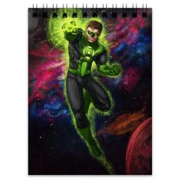 """Блокнот """"Зеленый фонарь (Green Lantern)"""" - комиксы, dc, зеленый фонарь, green lantern, dc comics"""