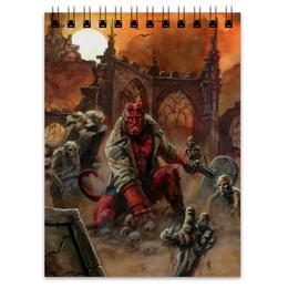 "Блокнот ""Хеллбой"" - хеллбой, комиксы, демон, hellboy, dark horse comics"