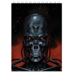 """Блокнот """"Терминатор"""" - робот, терминатор, terminator"""