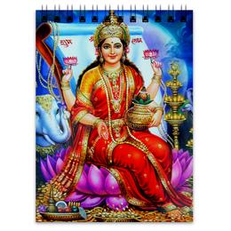 "Блокнот ""Лакшми"" - лакшми, богиня удачи, богиня богатства, богиня лакшми, laxmi"