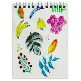 """Блокнот """"Фрукты"""" - лето, цветы, листья, ягоды, арбуз"""