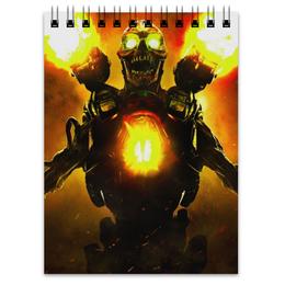 "Блокнот ""Doom 4"" - doom, шутер, дум, выживший, revenant demon"