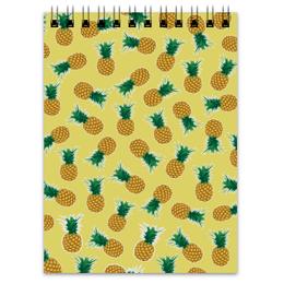 "Блокнот ""Fruity mood"" - арт, лето, фрукты, ананасы, pineapples"