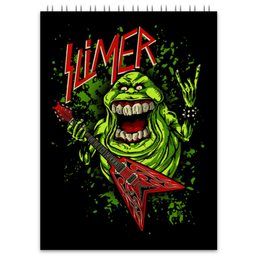 "Блокнот ""Лизун/Slayer"" - юмор, slayer, охотники на привидений, thrash metal, ghost busters"
