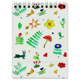 """Блокнот """"Блокнот Финская тема"""" - цветы, листочки, сердечки, птички, лето"""