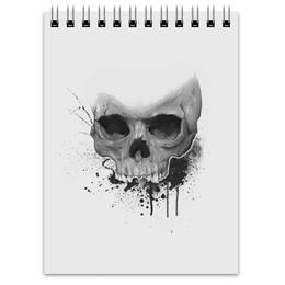 "Блокнот ""Череп"" - skull, череп, краски, paint"