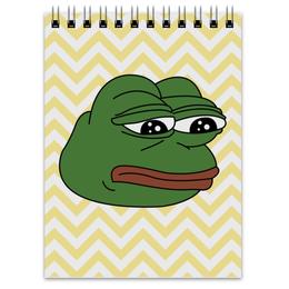 """Блокнот """"Грустная лягушка"""" - мем, meme, грустная лягушка, sad frog, pepe frog"""