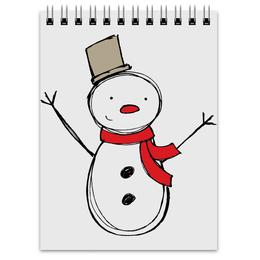 """Блокнот """"С Новым Годом!"""" - с новым годом, снеговик, snowman"""