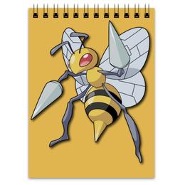 """Блокнот """"Бидрилл"""" - нинтендо, nintendo, pokemon go, покемон го, beedrill"""
