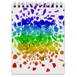 """Блокнот """"Broken rainbow"""" - радуга, rainbow, broken, сломанная, канцелярия"""