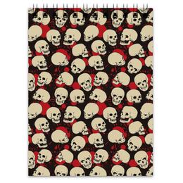"""Блокнот """"Крупные черепа"""" - skull, череп, арт, черепа, skulls"""