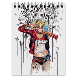 """Блокнот """"Харли Квинн"""" - comics, комиксы, бэтмен, harley quinn, dc comics"""