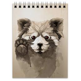 """Блокнот """"Малая панда"""" - арт, панда, panda, красная панда"""