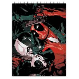 "Блокнот ""Дэдпул и Домино"" - комиксы, deadpool, марвел, дэдпул, domino"