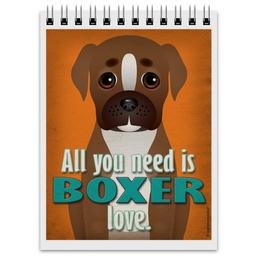 """Блокнот """"boxer"""" - боксёр, boxer"""