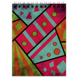 """Блокнот """"Яркая геометрия"""" - полосы, круги, геометрия, треугольники"""