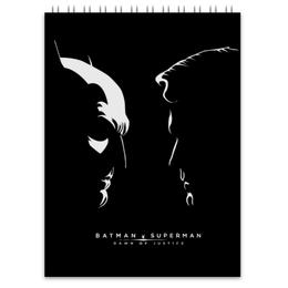 "Блокнот ""Batman vs Superman"" - комиксы, бэтмен, супермэн, dc comics"