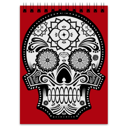 "Блокнот ""Santa Muerte skull"" - skull, череп, мексика, mexico, санта муерта"